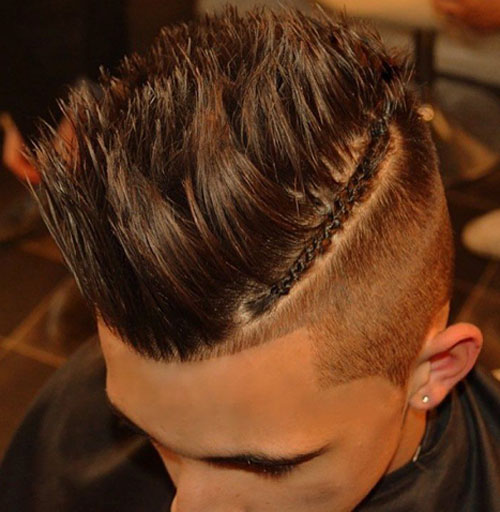 High-Fade-with-Braids-Long-Spiked-Hair