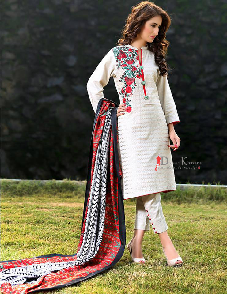 7b0adb8fa Beautiful Casual Dresses Designs 2018 for Pakistani Girls