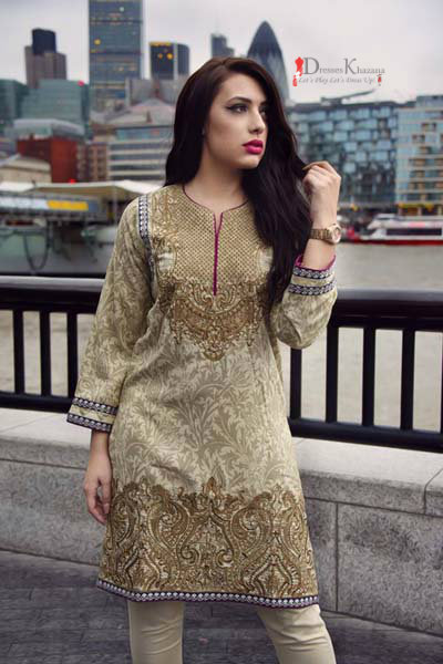 ceda5c74bf74 Beautiful Casual Dresses Designs 2018 for Pakistani Girls