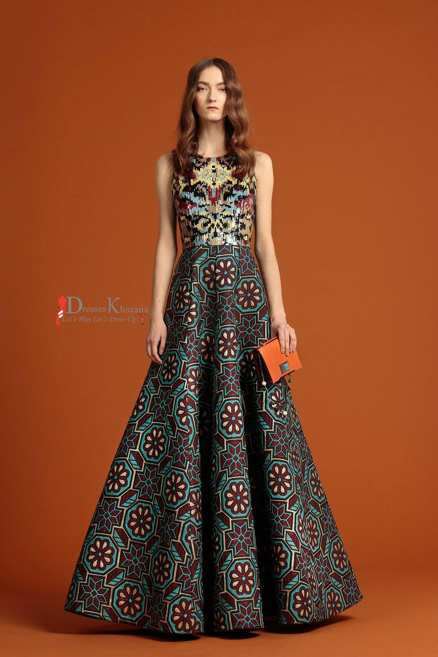 Pakistani Maxi Dress In Trend 2016-2017