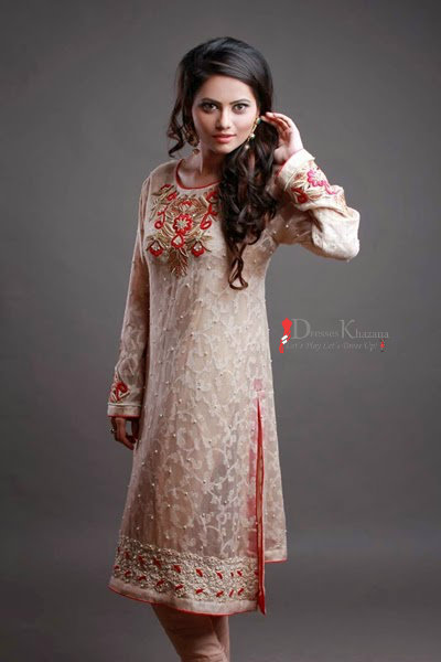 22a379decae7 Latest Pakistani Cocktail Dresses for Girls 2016 - 2017