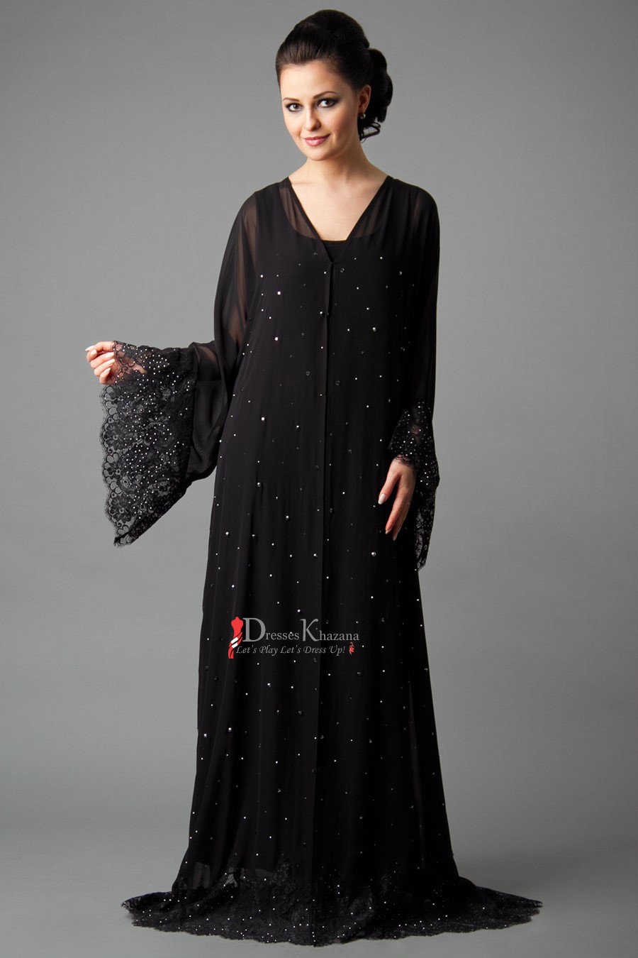 aa3853d9e56d New Stylish Abaya Designs 2018 in Pakistan For Girls