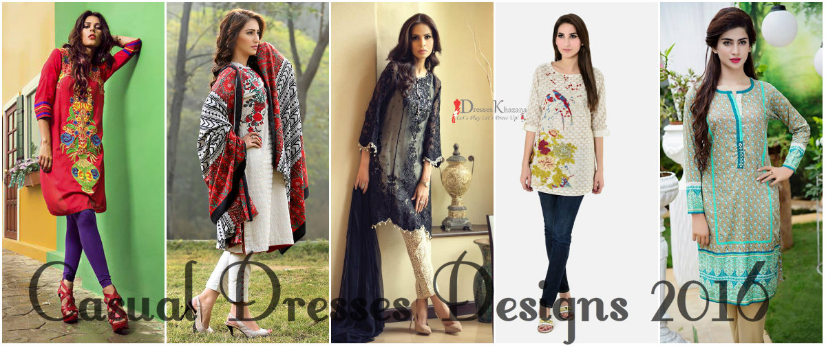 Casual Dresses Designs 2016