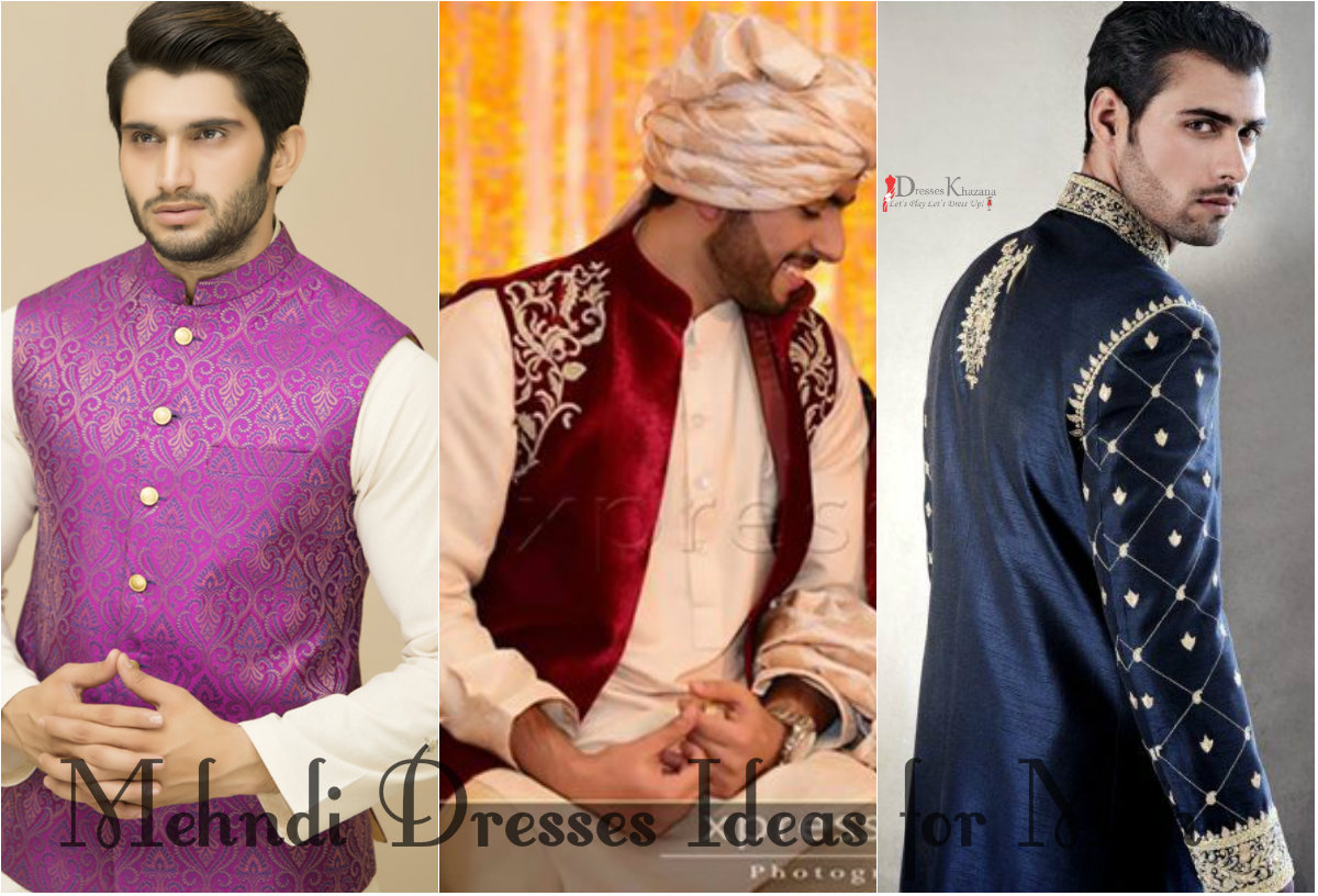 Latest Mehndi Dresses Ideas for Men and Wedding Dresses