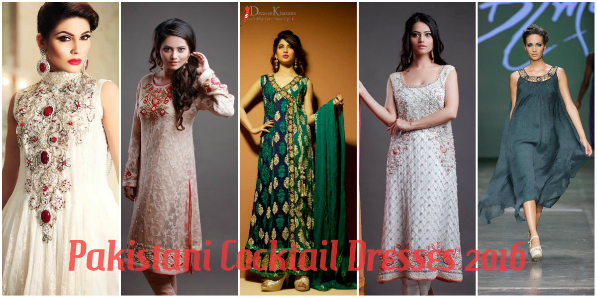 Pakistani Cocktail Dresses 2016