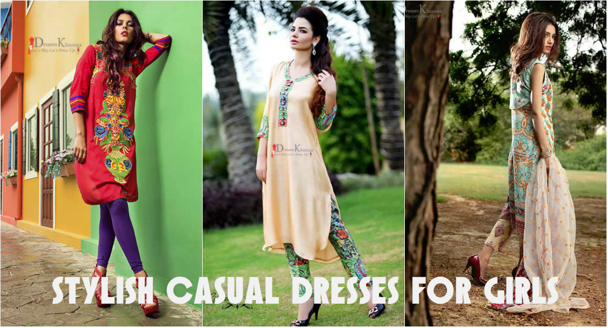 ce36d79b29fc Beautiful Casual Dresses Designs 2018 for Pakistani Girls