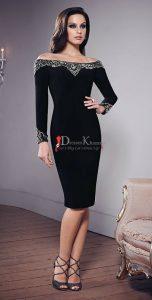 shoulder cocktail dress