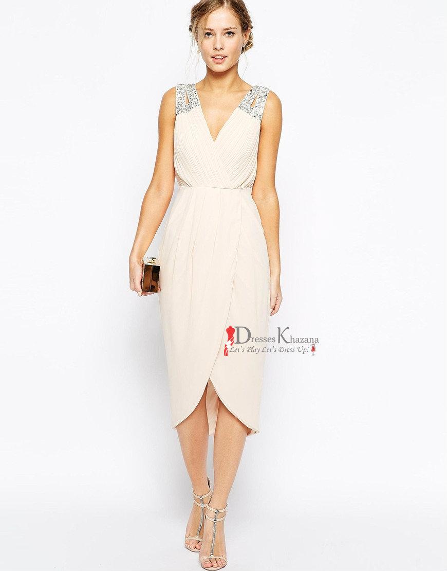 Wrap cocktail dress