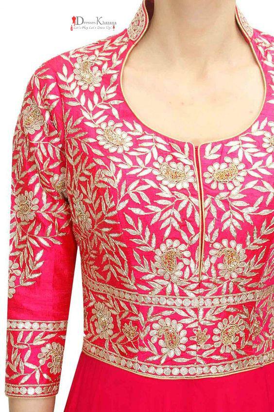 518594086 Sparking Best Neckline Dresses for Pakistani Girls