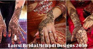 Latest Bridal Mehndi Designs 2016