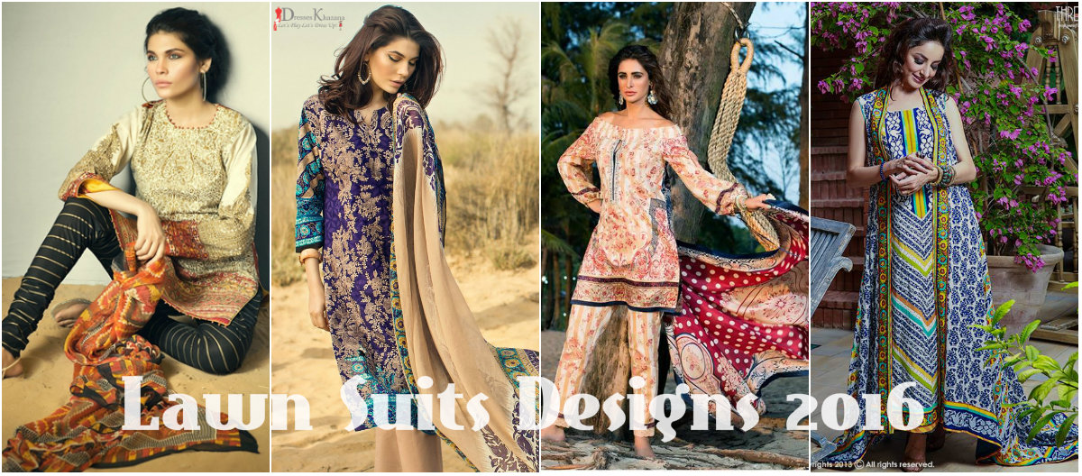 latest lawn suits collection 2016