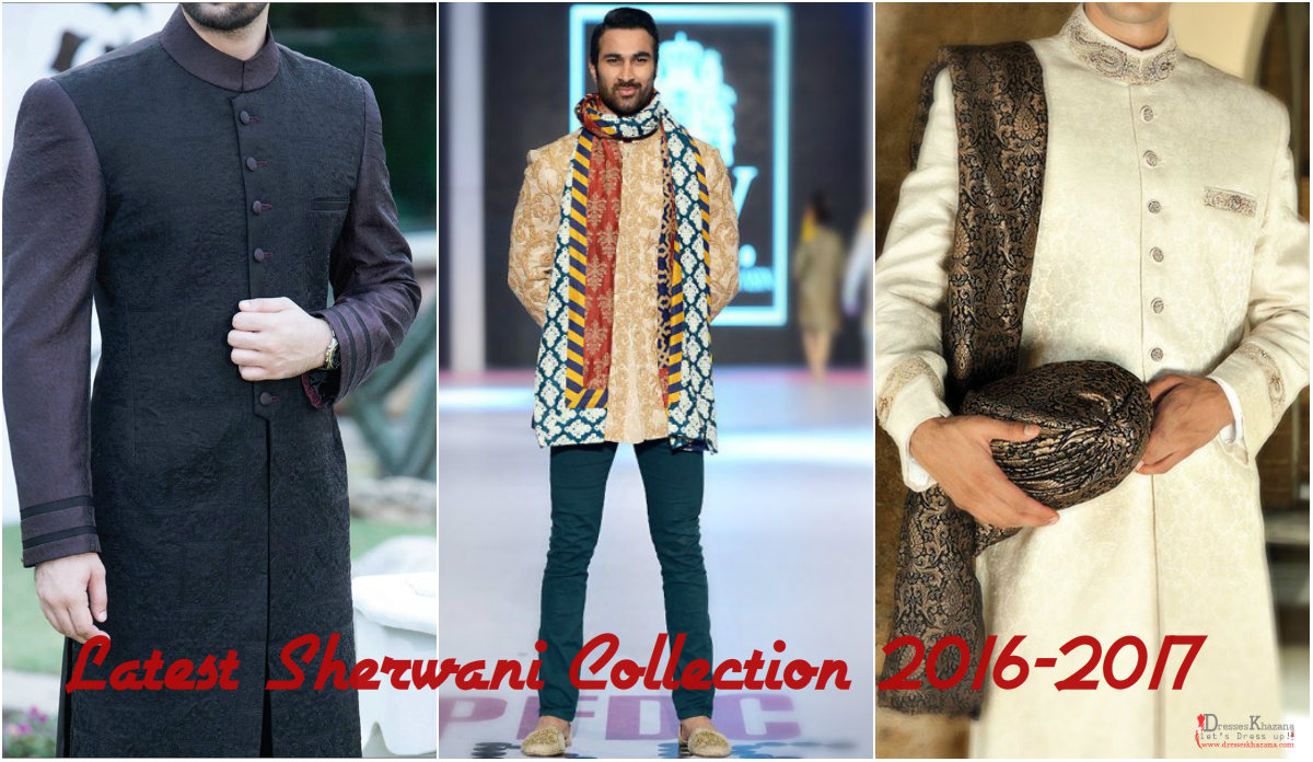 Latest Sherwani Collection 2016-2017