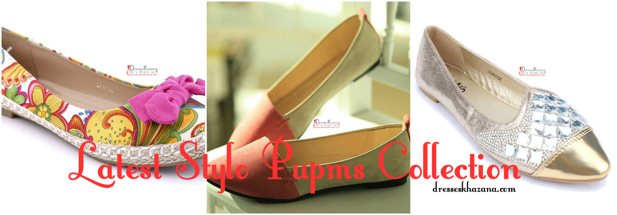 Latest Stylo Pumps Collection 2017 Designs for Pakistani Girls