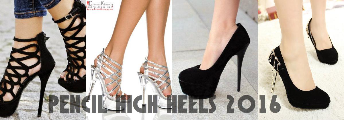 pencil high heels 2016