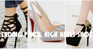 Trending Pencil High Heels Shoes for Pakistani Young Girls 2017