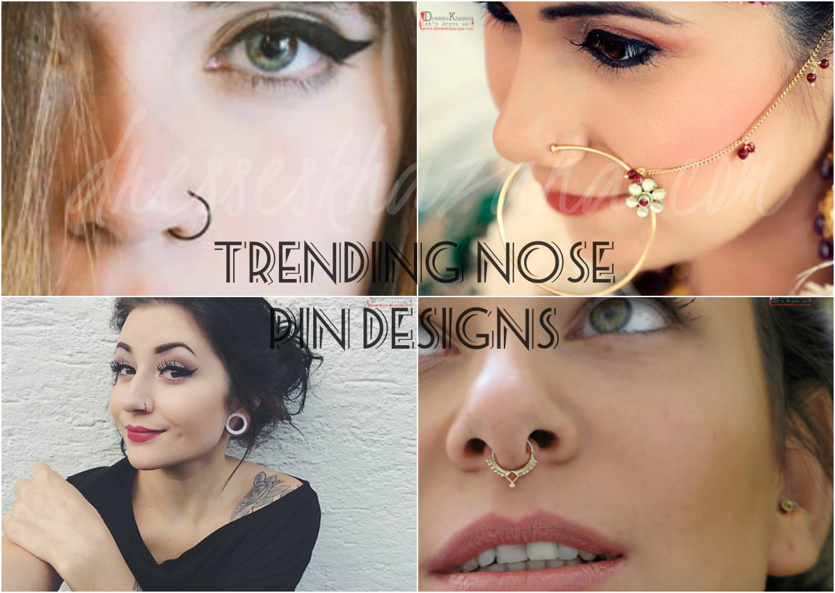 e297517a19b3 Trendy Nose Pin Designs 2018 and Types of Nose Rings Fashion