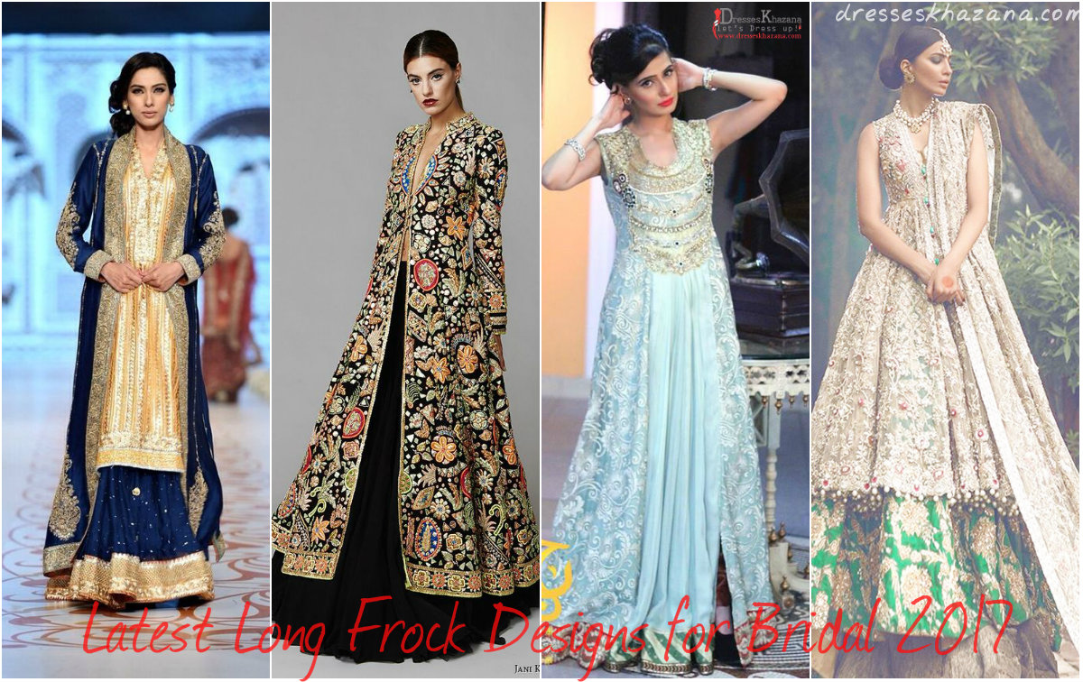 Latest Long Frock Designs for Bridal 2017