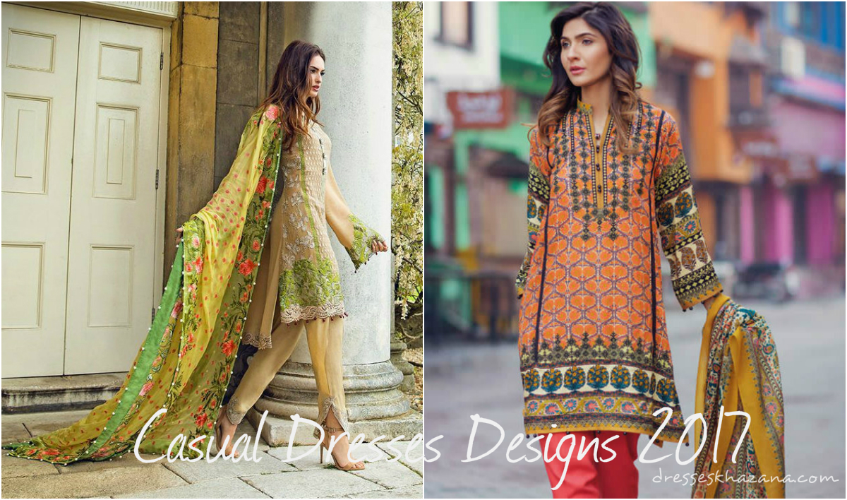 Casual Dresses Designs 2017 Outfits For Girls Collection