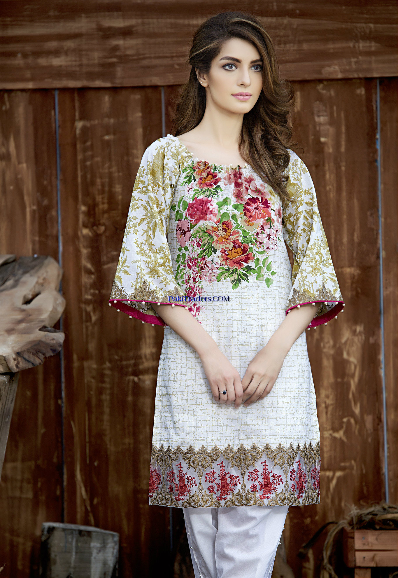 Stylish Kurti Designs Dresses 2017 Collection by Gul Ahmed