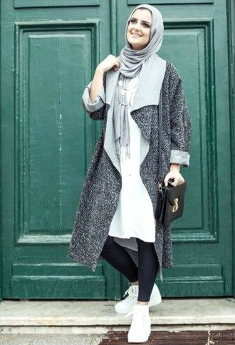 Modern Hijab Styles Fashion 2017 For Winter Outfits