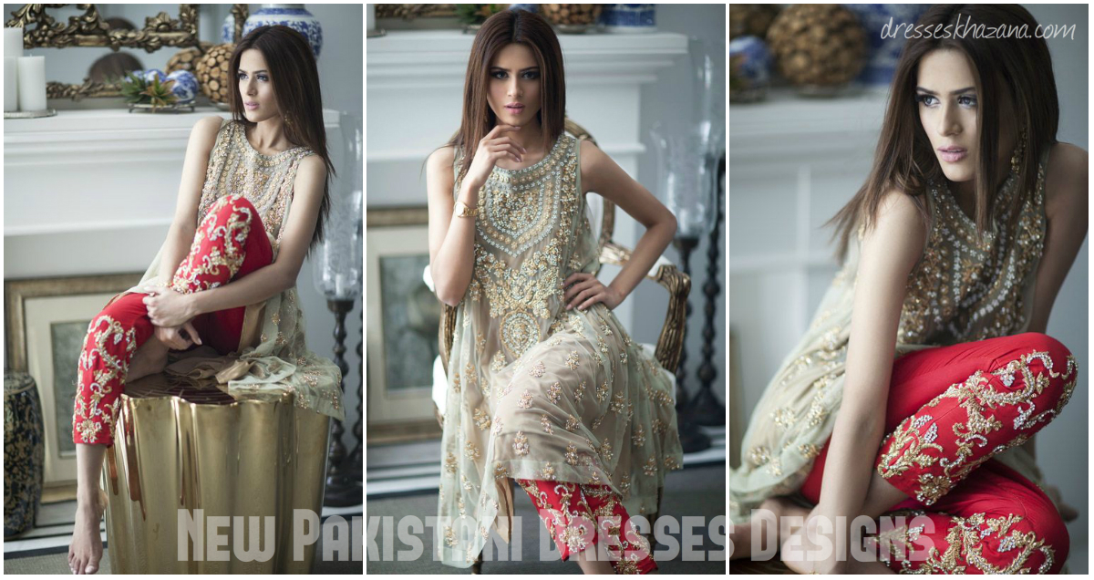 f6816229455 Latest Pakistani Dresses Designs 2018 for Girls - Formal   Informal ...