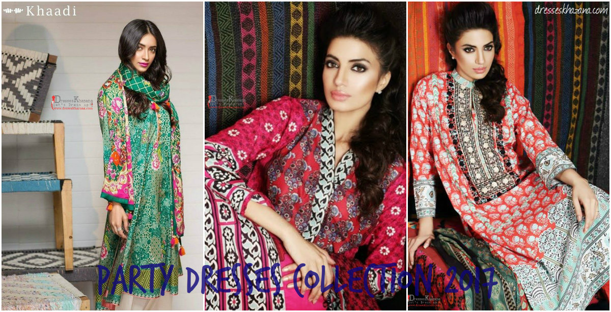 4daafe3db7c Latest Party Dresses 2017 Collection by Khaadi for Girls