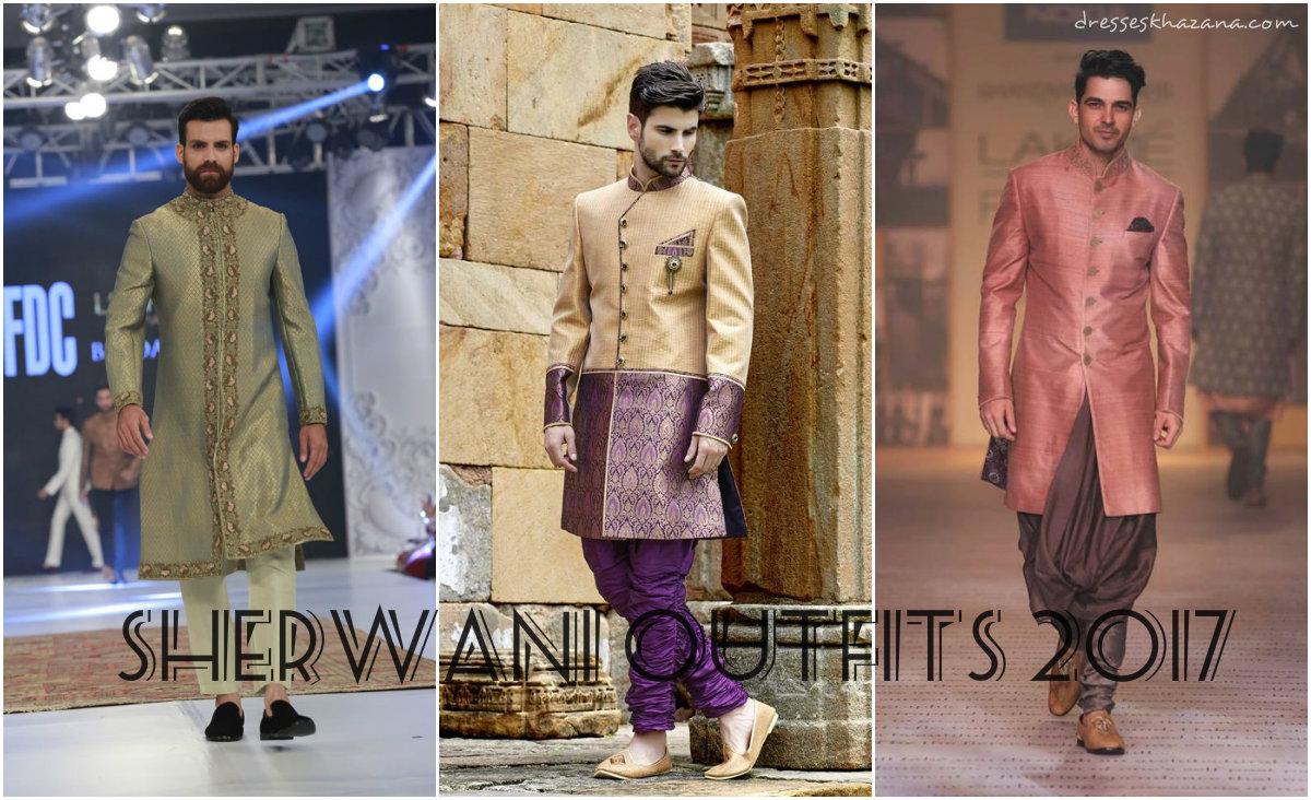 Latest Sherwani Designs for Men 2017