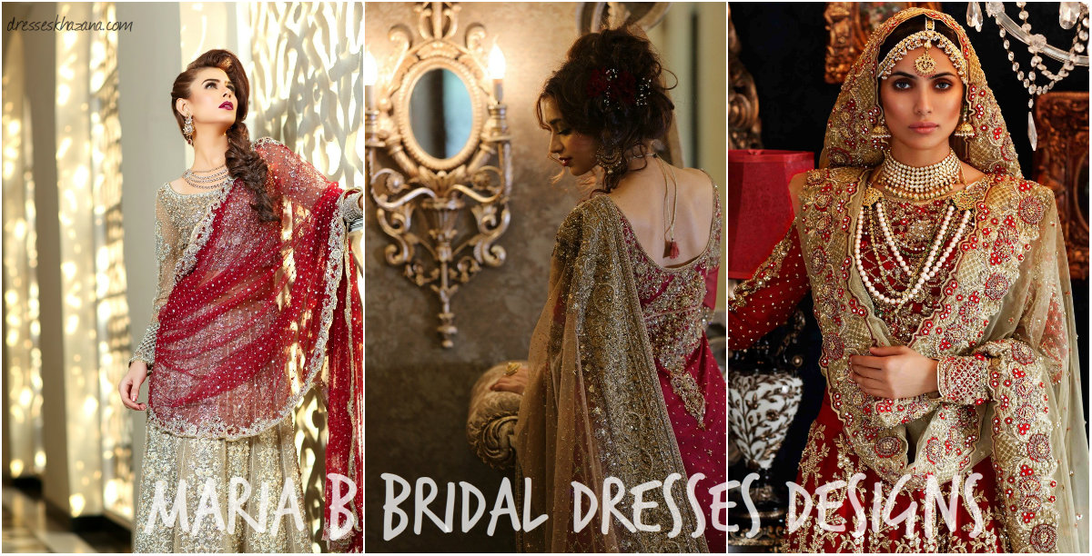 B Design Clothing | Maria B Latest Bridal Dresses 2017 Collection Designs For The Bride