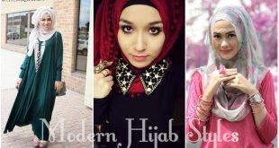 Modern Hijab Styles 2017