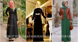 New Stylish Abaya Designs 2017 in Pakistan For Girls
