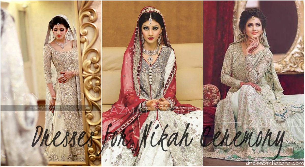 Baju kahwin muslimah www imgarcade com online image arcade - Trending Pakistani Nikah Dresses 2017 For Bridal Engagement Dresses