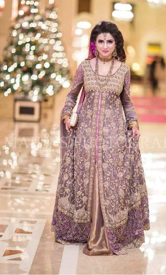 2017 fashion trend color - Trending Pakistani Nikah Dresses 2017 For Bridal