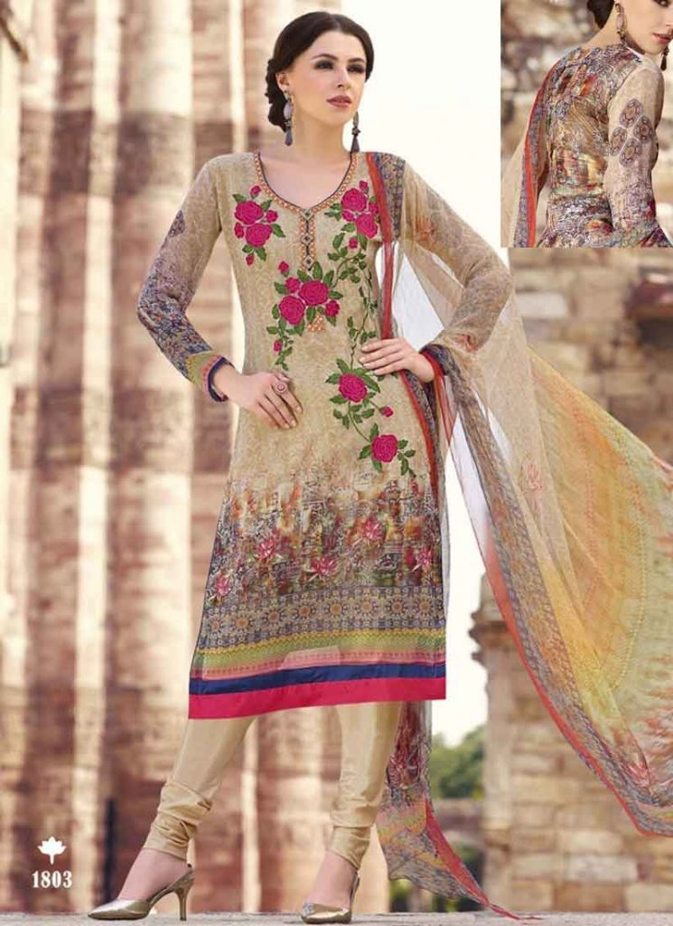 Salwar kameez with thread work
