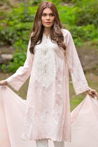 BABY PINK 3 PC EMBROIDERED LAWN DRESS