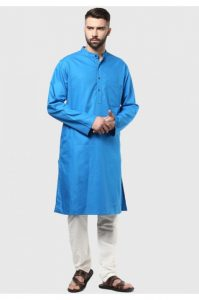 Blue Plain Kurta