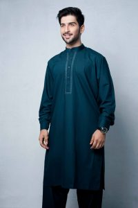Colored Kurta Shalwar Suit