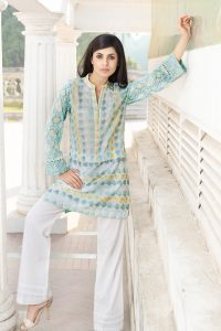 GREEN 1 PC EMBROIDERED LAWN