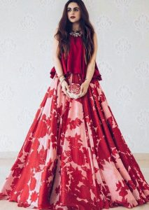Indian Red Party Dresses
