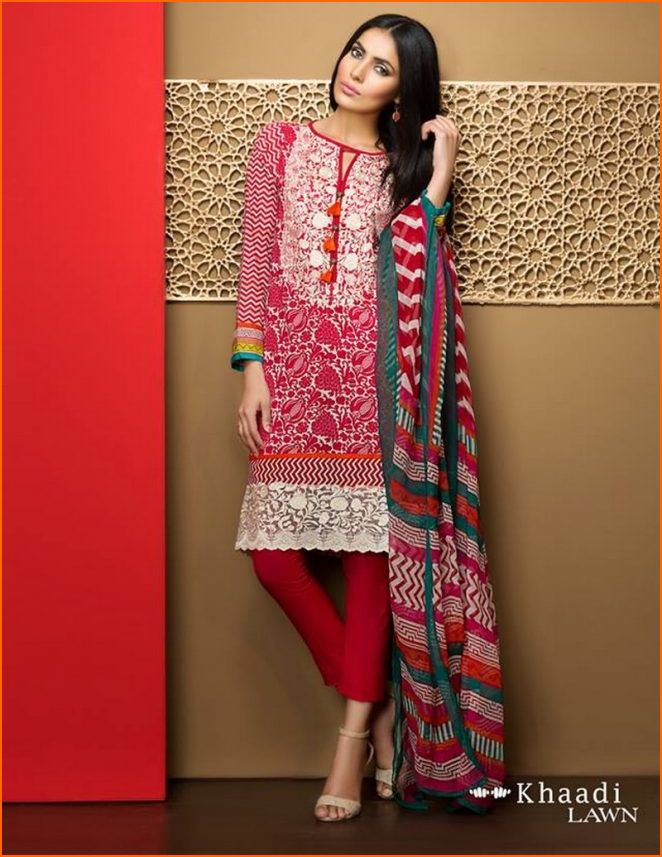 d1cf598de8e2 Khaadi has developed characteristic summer clothing line with unique prints  and vibrant colors that look quite exquisite. Khaadi Lawn Collection 2017