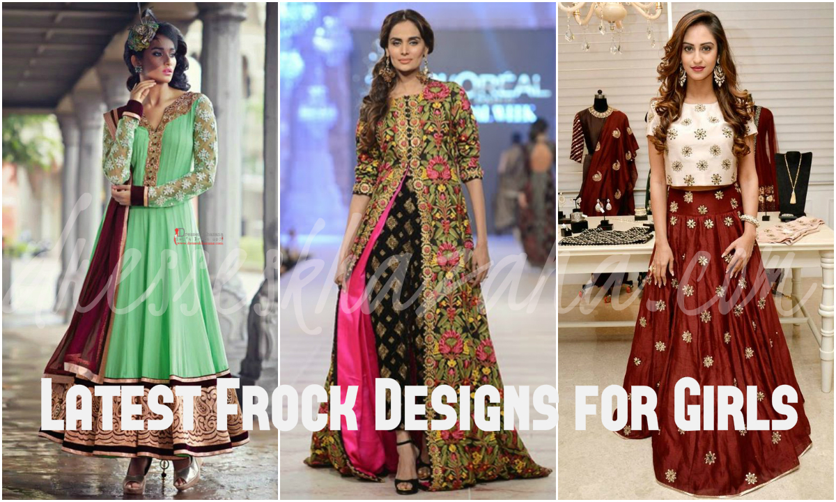 7d74748b1e83 Latest Frock Designs 2018 Umbrella Dresses for Girls and Women