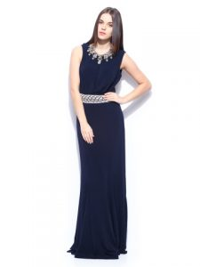Mango Navy Maxi Dress