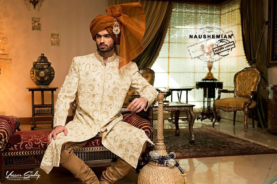 Naushemian Wedding Sherwani Dresses
