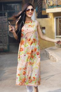 PEACH 1 PC PRINTED LAWN SINGLE