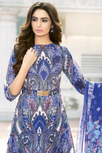 ROYAL BLUE 3 PC ORGANIC SILK LINEN DRESS 5200