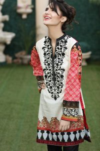 WHITE 1 PC EMBROIDERED LAWN SINGLE