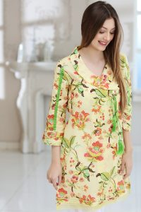 YELLOW 1 PC PRINTED LAWN SINGLE 2