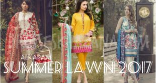 Alkaram Lawn 2017 Spring Summer Collection Ladies Suits Designs