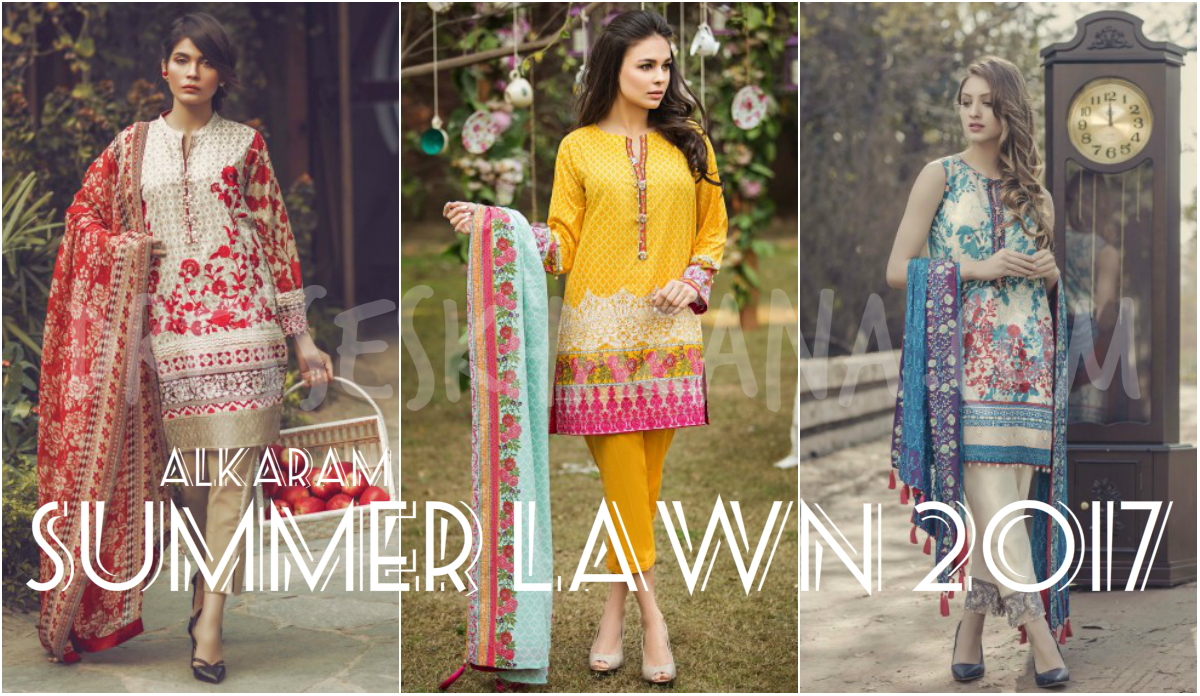 Alkaram Lawn 2017 Spring Summer Collection Ladies Suits Designs