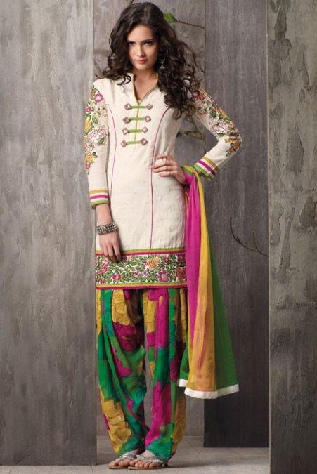 Colorful Patiala Salwar