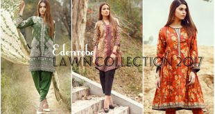 Edenrobe Lawn 2017 Collection - Summer Wear of Edenrobe for Girls